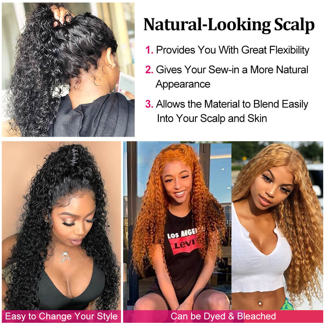 Can Be Dyed Lace Front Human Hair Wigs Pre-Plucked Bleached Knots