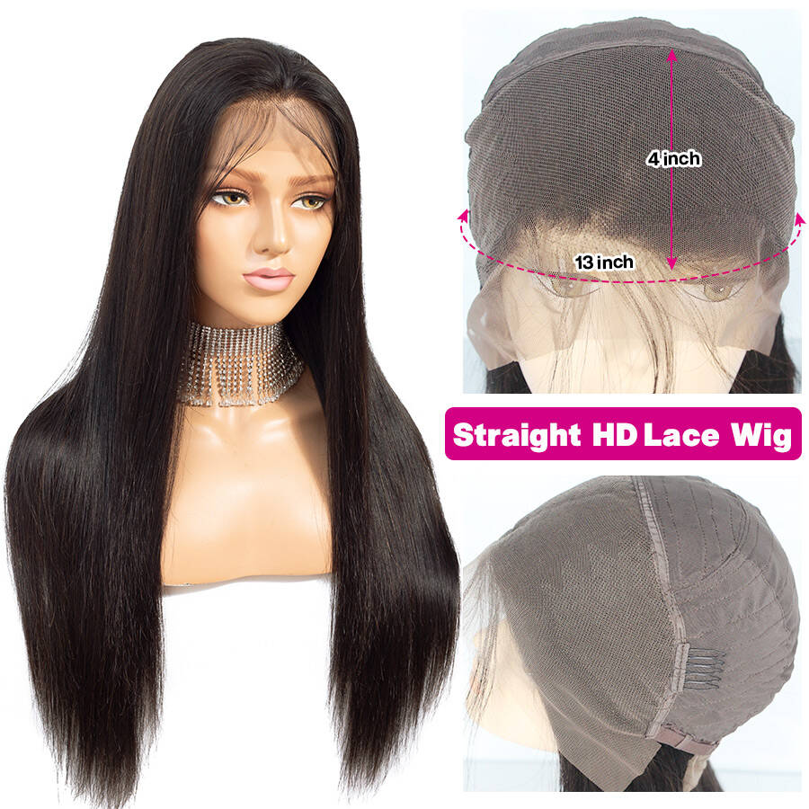 Straight Hair 13x4 Lace Front Wigs Lace Cap Show