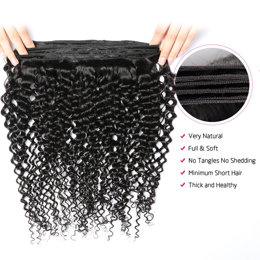 Curly Hair Bundles Weft Unfold