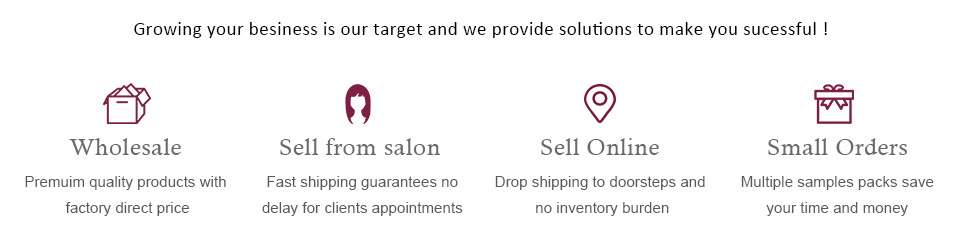 wholesale, sell from salon, sell online, small orders