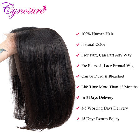 Cynosure Brazilian bob lace front wigs with baby hair