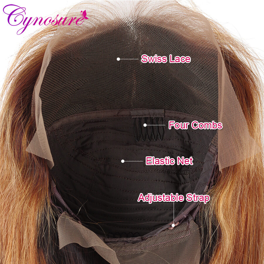Cynosure Ombre long straight wigs