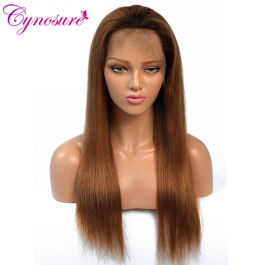 Cynosure Ombre straight lace front wigs