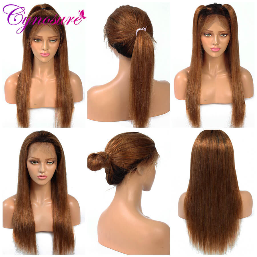 Cynosure Ombre straight hair wigs