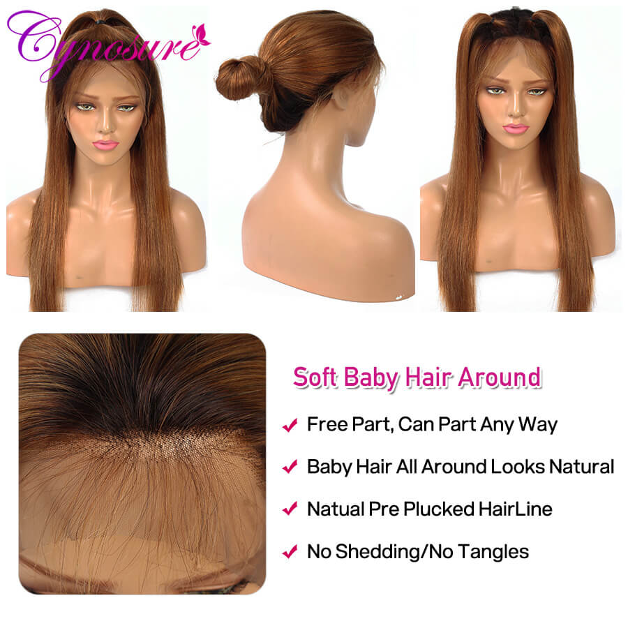 Cynosure Ombre 1b/30 straight human hair wigs