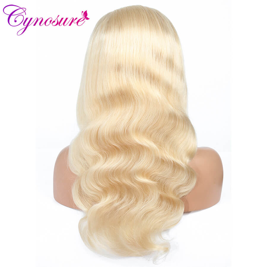 Cynosure 613 blonde color body wave human hair wig