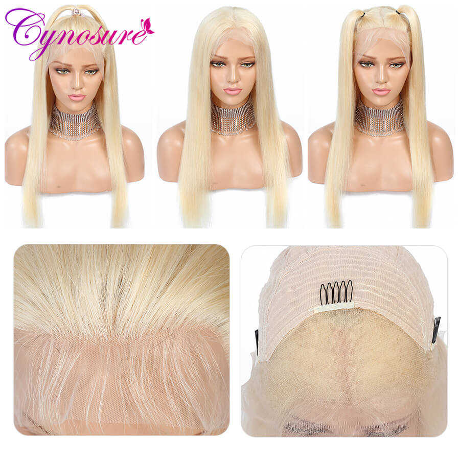 Cynosure 613 blonde straight human hair wigs