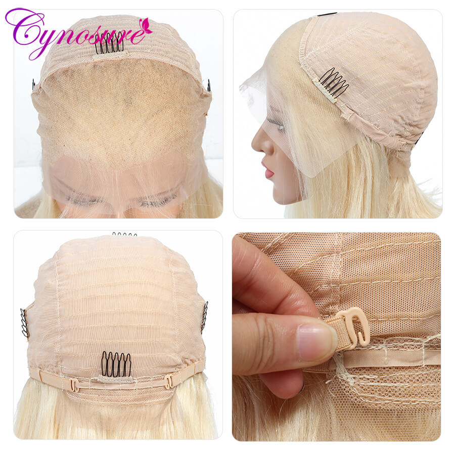 Cynosure 613 blonde long straight human hair wigs