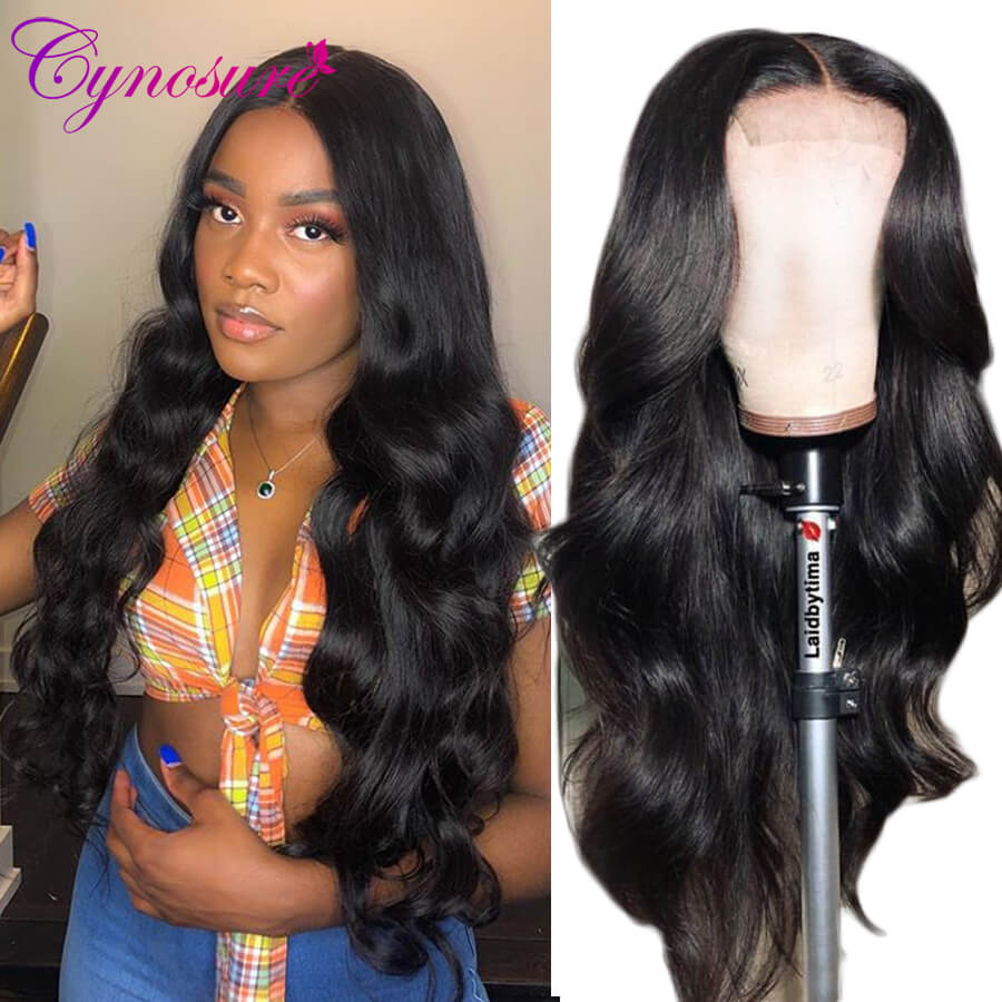 Cynosure body wave wig with bangs
