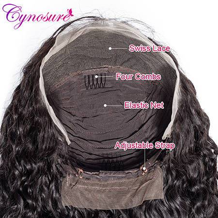 cynosure water wave lace wig pre plucked hairline
